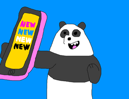 Panda Bear and his Cell Phone - NEW NEW NEW NEW by MikeEddyAdmirer89