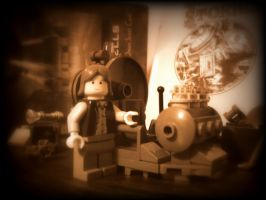 HG Wells -  The Time Machine In Lego by Cryptdidical