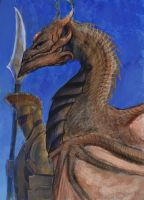 Forlorn Plains Guard with wyvern preview 01 by Brollonks