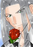 Sephy's Rose by sapphireyuriko