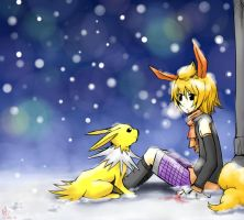 AT: Flareon and Jolteon by sylvia65charm
