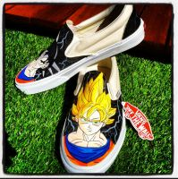 Dragon Ball Z Vans by VeryBadThing