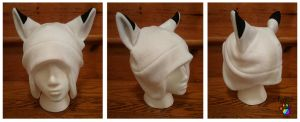 White Fox Hat by CalicoSarah