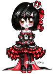 CE:: Gothic Chibi Queen by Lettelira