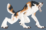 Gift for Brother - Calico Wolf by Lefice