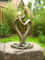 Snake statue by m3ry-chan