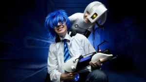 Wheatley and GLaDOS cosplay Portal 2 by Tenori-Tiger