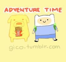 Chibi Jake and Finn by stevengico