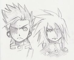 Lloyd and Kratos by Godly-Effect