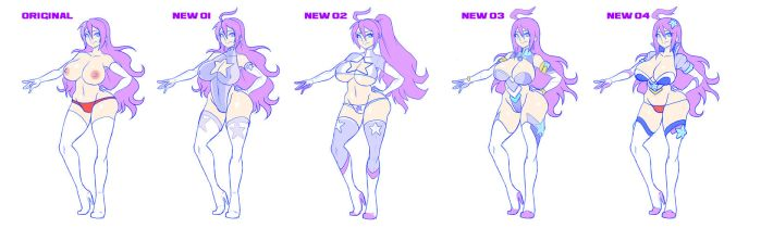 VIOLET REDISIGNS: CHOOSE YOUR FAVOURITE :) by Witchking00