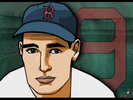 Ted Williams by cheddarpaladin