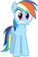 Rainbow Dash angry by RatchetHuN