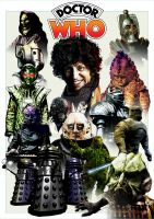 Tom Baker - Monsters print 4 by jlfletch