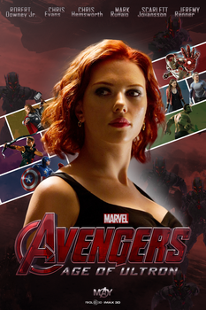 Avengers Age of Ultron Black Widow Fan-Made Poster by ImAngelPeabody