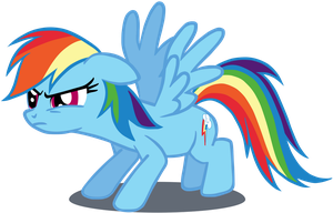 My third Rainbow Dash vector, upgraded version. by Flutterflyraptor