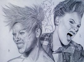 Alecia Beth Moore W.I.P full pic of the portraits by RealityBitez