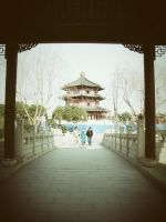 Vintage old style building by Laura-in-china