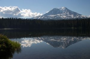 Morning Reflection of Mt. Adams by AFL