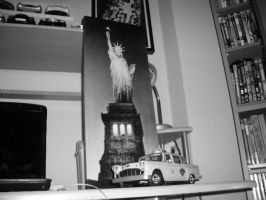 checker taxi cab nyc scale 1 18 and Statue of Libe by EnriqueGomez