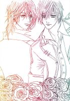 vampire knight - lineart by shizune-mirage