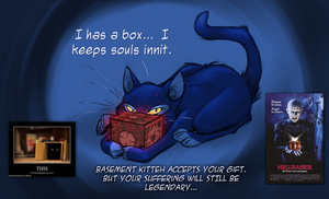 Basement Kitteh's Box by fnook