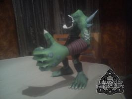 Digimon Ogremon Papercraft Left Arm by HellswordPapercraft