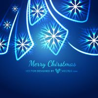 Neon Style Merry Christmas Free Vector by vecree