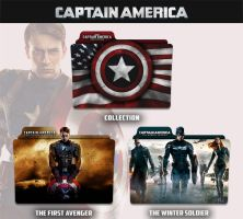 Captain America 2011 - 2014 Folder Icon by sonerbyzt
