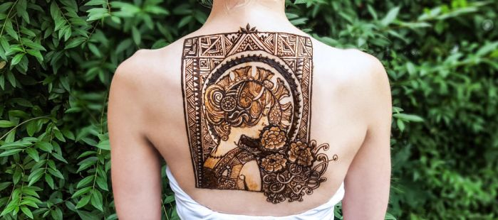 Alphonse Mucha and Moroccan henna by cydienne