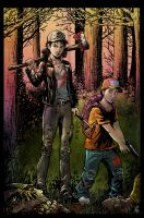 The Walking Dead COlor Commission 2 by KR-Whalen
