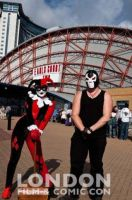 HarleyQuinn and Bane LFCC 2010 by Nerdpowers