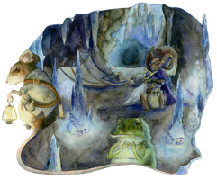 Explorers of the Cave by AlmightyHighElf
