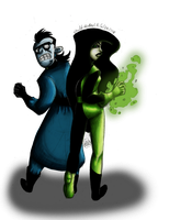 Dr. Drakken and Shego by Lavenkitty