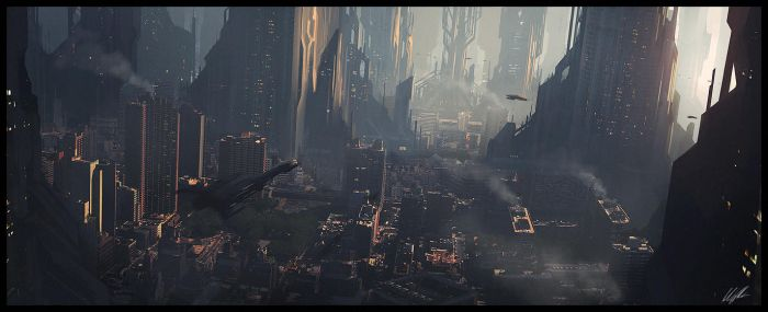 Scifi city speed 2 by AndreeWallin