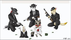 The Original Furry Paws Mafia by liquidonyx