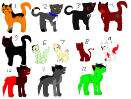 1 Point Halloween Adopts! CLOSED by BrokenMirrors-Adopts