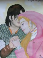 The English Ladye And The Knight by SquigglyButterfly