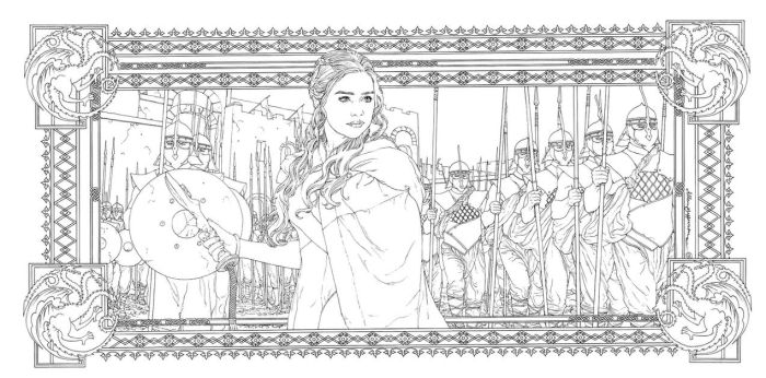 Game Of Thrones_ Coloring Book_ 18 by AllJeff