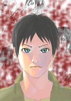 i think i made eren look chinese :I by churien