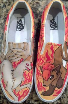 Ninetails and Vulpix Shoes by Brokenfeather-san