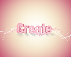 CREATE 3D CHANGED TEXT COLOR by RebeckaVigil