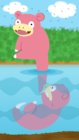 Slowpoke Fishing Game by Schaafii