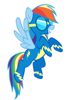 Rainbow Dash the Wonderbolts by keeveew