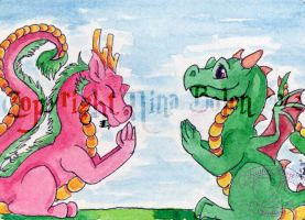 East Meets West ACEO by The-GoblinQueen