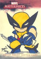 Marvel Sketch Proof- Wolverine by hedbonstudios