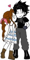 Zack and Aerith Chibi 2 by Frankie2411