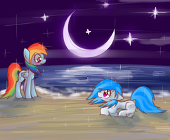 By the shore by StrangeMoose