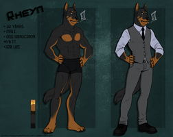 Rheyn Reference Sheet [Commission] by MadDogVII