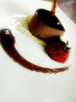 Chocolate Mousse with coffee sauce by AleeCranberrie