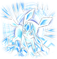 Glaceon by Yuki-hime9